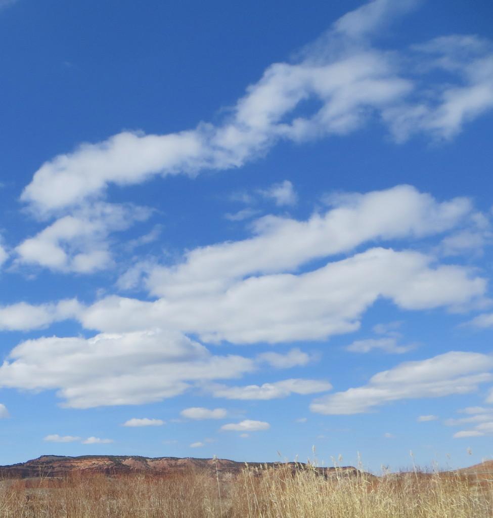 blue sky in Wyoming