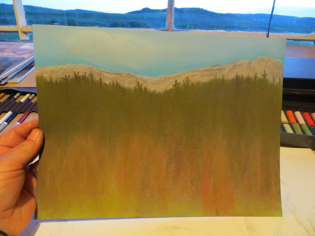 mountain pastel