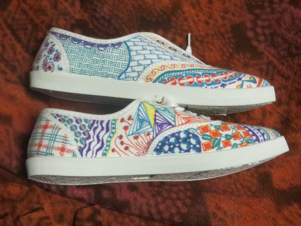 zentangled shoes