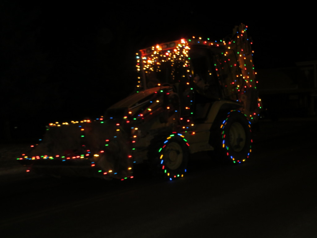 Christmas backhoe