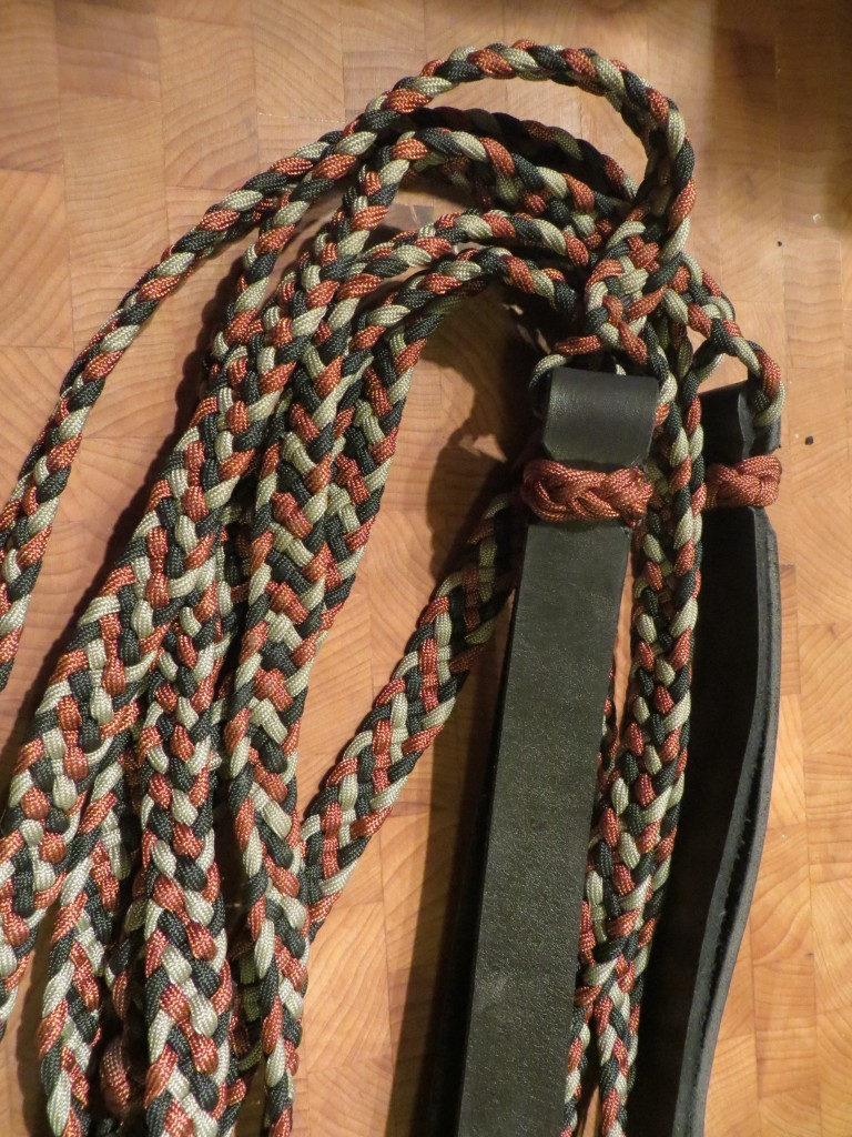 braided reins close up