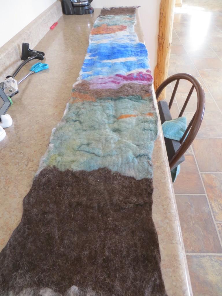 wool landscape scarf
