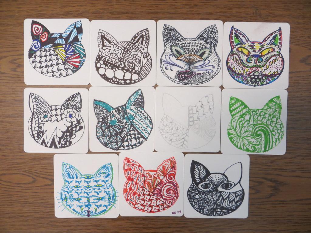art doodle cats