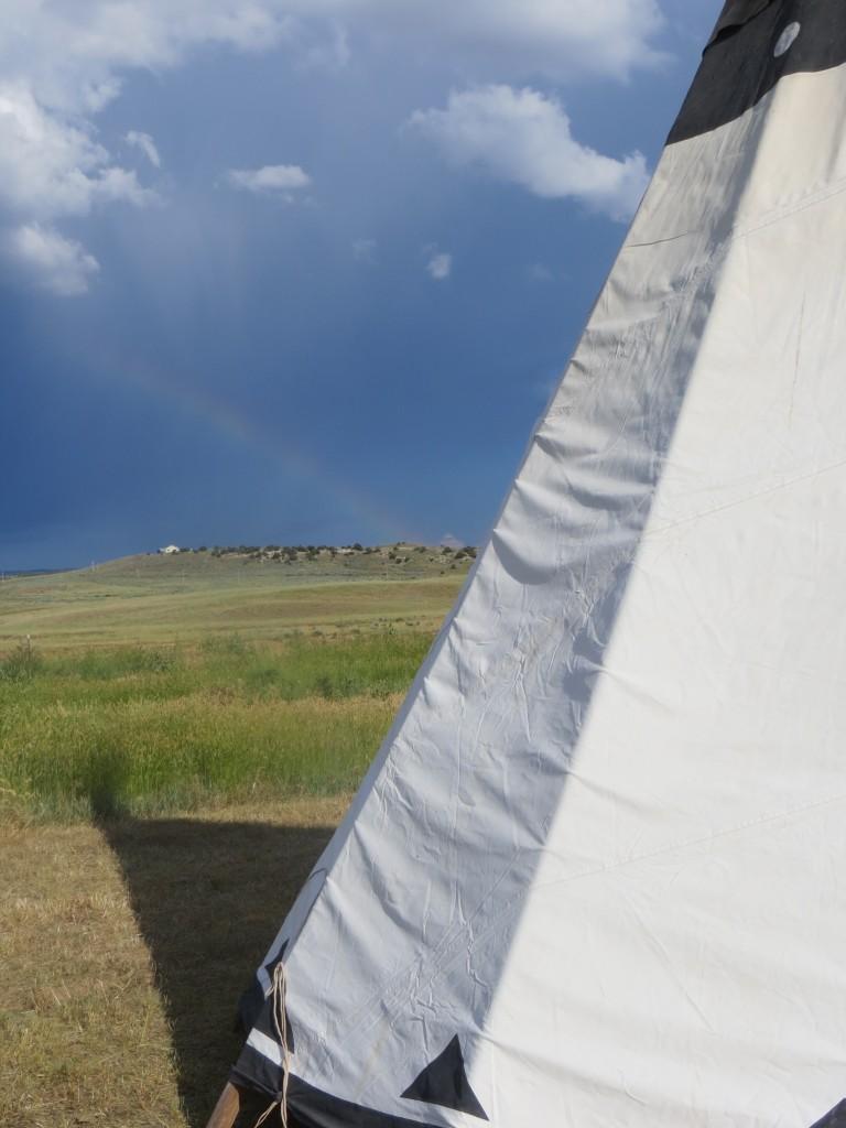 rainbow tipi